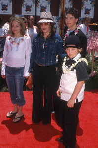"Lisa Marie Presley, Danielle Riley Keough, Benjamin Storm Keough and Navarone Garibaldi at the premiere of ""Lilo & Stitch""2002© 2002 Gary Lewis - Image 24300_0659"