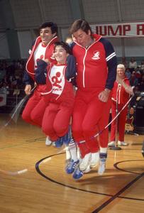 Jamie Farr, Danielle Anne Brisebois, Robert Wagner and Jerry Dunphycirca 1980s© 1980 Gary Lewis - Image 24300_0695