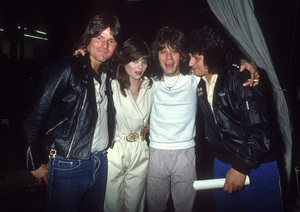 Valerie Bertinelli and Eddie Van Halen with some roadies circa 1980s© 1980 Gary Lewis - Image 24300_0703