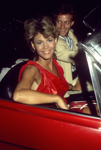 Markie Post and her husband, Michael A. Rosscirca 1985© 1985 Gary Lewis - Image 24300_0797