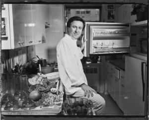 Daniel Boulud at home in his New York City apartment kitchen1993© 1993 Ken Shung - Image 24302_0008