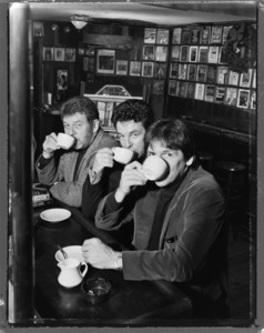 The Hamill Brothers (Pete, Dennis and Brian) photographed at the Lions Head pub in New York City1995© 1995 Ken Shung - Image 24302_0015