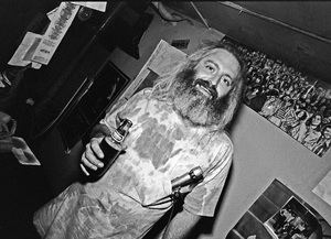 Howard Kaylan of Flo and Eddie photographed in the dressing room of a Long Island club named