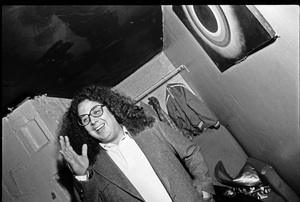 Mark Volman of Flo and Eddie photographed in the dressing room of a Long Island club named