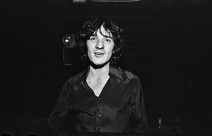 Rick Danko photographed in the dressing room of a Long Island club named