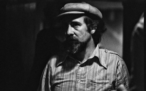 Roy Buchanan photographed in the dressing room of a Long Island club named