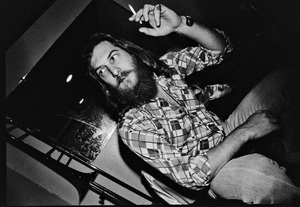 Steve Cropper photographed in the dressing room of a Long Island club named