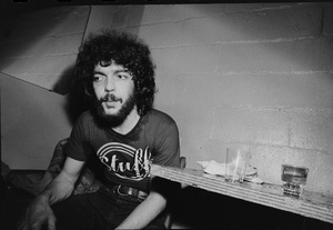 Steve Gadd photographed in the dressing room of a Long Island club named
