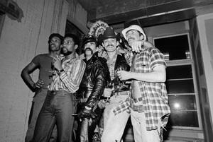 Village People (Felipe Rose, Randy Jones) back stage in New York City1978© 1978 Ken Shung - Image 24302_0118
