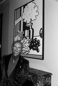 Roy Lichtenstein photographed at Richard and Barbara Lane