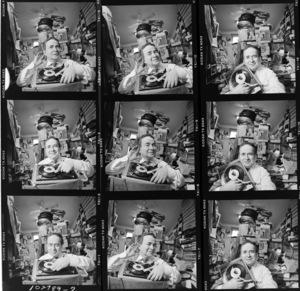 Joe Franklin in his TV studio1989© 1989 Ken Shung - Image 24302_0136