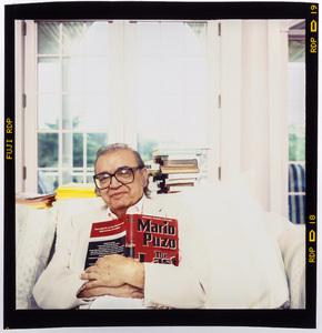 Mario Puzo photographed at his home in Long Island, New York 1996 © 1996 Ken Shung - Image 24302_0205