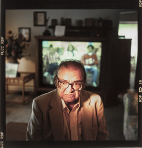 Mario Puzo photographed at his home in Long Island, New York 1996 © 1996 Ken Shung - Image 24302_0206