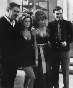 """Beyond the Valley of the Dolls""Director Russ Meyer, Cynthia Myers, Dolly Read, Hugh Hefner1970** I.V. - Image 24322_0065"