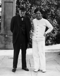 Winston Churchill and Charlie Chaplincirca 1930s** I.V. - Image 24322_0072