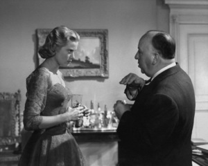 """Grace Kelly and director Alfred Hitchcock on the set of """"Dial M for Murder""""1954** I.V. - Image 24322_0077"""