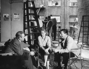 "James Stewart, Grace Kelly, and Wendell Corey on the set of ""Rear Window""1954** I.V. - Image 24322_0096"