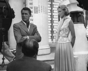 """Cary Grant and Grace Kelly on the set of """"To Catch a Thief""""1955** I.V. - Image 24322_0098"""
