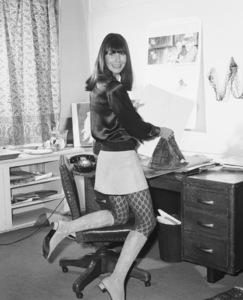 "Theadora Van Runkle in her studio working on designs for ""I Love You, Alice B. Toklas!""1968** I.V. - Image 24322_0153"