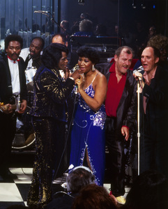 "Aretha Franklin and James Brown in ""Cinemax Sessions: A Soul Session: James Brown & Friends""1987** I.V.M. - Image 24322_0161"
