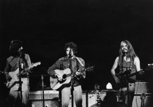 George Harrison, Bob Dylan, and Leon Russell at the Concert for Bangladesh in Madison Square Garden1971** I.V.M. - Image 24322_0193