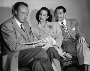 """Director Douglas Sirk, Dorothy Lamour and Don Ameche in """"Slightly French""""1949 Columbia Pictures© 1978 Ned Scott Archive - Image 24327_0077"""