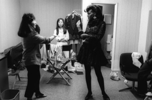 Alisa Peoples of Yarbrough and Peoples in the dressing room during an album cover photo shoot1982© 1982 Bobby Holland - Image 24331_0013
