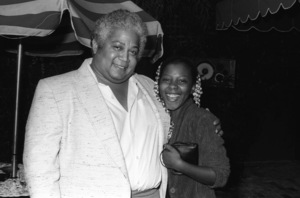 Wally Roker (Record Industry Executive) and Patrice Rushencirca 1980s© 1980 Bobby Holland - Image 24331_0039