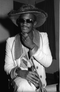 Bernie Worrell backstage at The Philadelphia Spectrum during the  Parliament-Funkadelic Earth Tourcirca mid 1970s© 1978 Bobby Holland - Image 24331_0053