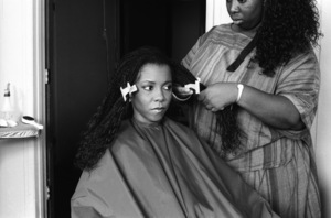 Patrice Rushen and her hair stylist, Sibongile Bradleycirca 1980s© 1980 Bobby Holland - Image 24331_0096