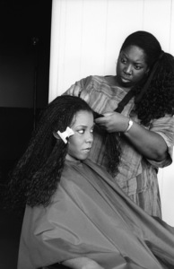 Patrice Rushen and her hair stylist, Sibongile Bradleycirca 1980s© 1980 Bobby Holland - Image 24331_0097