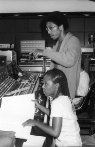 Patrice Rushen and Charles Mims Jr. (Co-Producer) at Conway Recording Studios in Los Angelescirca 1980s© 1980 Bobby Holland - Image 24331_0107