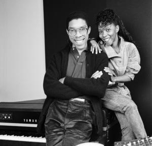 Patrice Rushen and Charles Mims Jr. (Co-Producer) circa 1980s© 1980 Bobby Holland - Image 24331_0109