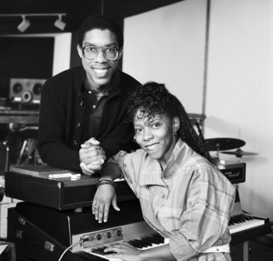 Patrice Rushen and Charles Mims Jr. (Co-Producer) circa 1980s© 1980 Bobby Holland - Image 24331_0110