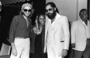 Bobby Caldwell, Patrice Rushen, David T. Walker and Wally Roker at Conway Recording Studios in Los Angelescirca 1980s© 1980 Bobby Holland - Image 24331_0111