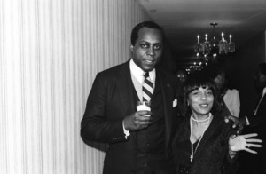 Vernon Jordan and guest at the Urban League Awards in Hollywood, CA1980© 1980 Bobby Holland - Image 24331_0138