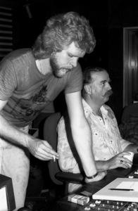 "John ""J.R."" Robinson and Bruce Swedien circa 1980s© 1980 Bobby Holland - Image 24331_0155"