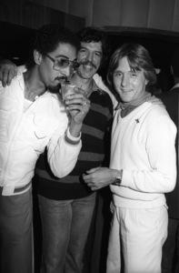 "George Johnson, Rod Temperton and Dave ""Hawk"" Wolinski circa 1980s© 1980 Bobby Holland - Image 24331_0165"