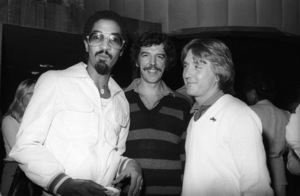 "George Johnson, Rod Temperton and Dave ""Hawk"" Wolinski circa 1980s© 1980 Bobby Holland - Image 24331_0166"