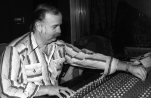 Bruce Swedien at Allen Zentz Recording Studios during a Quincy Jones