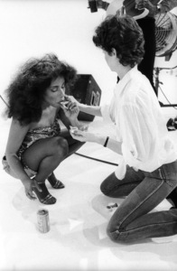 "Rufus and Chaka Khan during the making of two music videos for the album ""Masterjam""1979© 1979 Bobby Holland - Image 24331_0174"