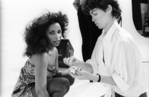 """Rufus and Chaka Khan during the making of two music videos for the album """"Masterjam""""1979© 1979 Bobby Holland - Image 24331_0175"""