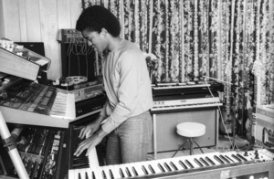 Jermaine Jackson at his home recording studio in Beverly Hills, CAcirca 1980s© 1980 Bobby Holland - Image 24331_0203