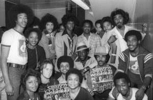 Switch (Phillip Ingram, Gregory Williams, Eddie Fluellen, Bobby DeBarge, Tommy DeBarge, Jody Sims) / Motown Records in-store sales promotion at Freeway Records in Los Angeles, CAcirca 1979© 1979 Bobby Holland - Image 24331_0211