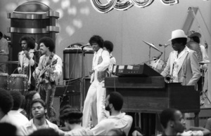 """""""Switch"""" performing live on Soul Train(Tommy DeBarge, Eddie Fluellen, Bobby DeBarge, Jody Sims, Phillip Ingram, Gregory Williams)circa 1970s© 1979 Bobby Holland - Image 24331_0233"""