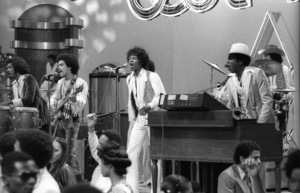 """""""Switch"""" performing live on Soul Train(Tommy DeBarge, Eddie Fluellen, Bobby DeBarge, Jody Sims, Phillip Ingram, Gregory Williams)circa 1970s© 1979 Bobby Holland - Image 24331_0234"""
