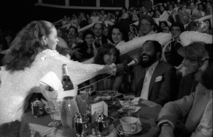 Diana Ross performing live in Las Vegas (Berry Gordy Jr. at microphone)circa 1970s© 1978 Bobby Holland - Image 24331_0251
