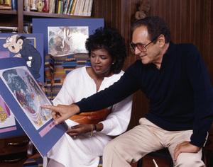 Phyllis Tucker Vinson and Joseph Barbera at NBC1986© 1986 Bobby Holland - Image 24331_0260