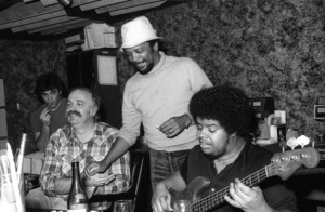 Bruce Swedien, Quincy Jones  and Anthony Jackson at Allen Zentz Recording Studios, right at the beginning of laying down tracks for Michael Jackson
