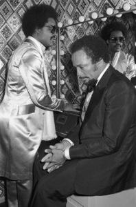 Stevie Wonder and Quincy Jones circa 1970s© 1978 Bobby Holland - Image 24331_0269